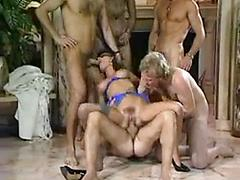 Busty MILF Takes Part In Orgy Blindfolded