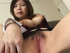 Hairy Asian Masturbation