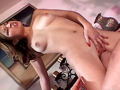 Sweet Teen Ann Marie Rios Gets A Brutal Pussy Knock Out