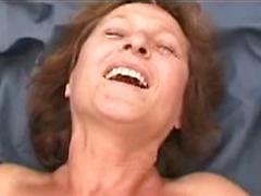 Sex Starved Granny Gets Her Hairy Pussy Fucked Outdoors