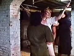 Slutty Bitch Is Tied Up And Fucked By Two Dudes