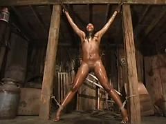 Black Girl Enjoys Bondage From Her Turned On Lover