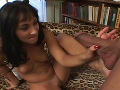 Roxy Jezel Taking A Huge Load On Her Sexy Toes