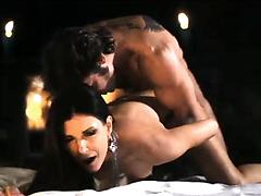 Elegant brunette hottie gets ass fucked after the romantic evening
