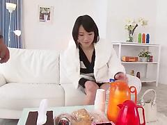 Busty Asian milf gives a ride enjoying every inch of cock in her vag