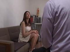 Wet Japanese girl blows dick and takes a hardcore ride