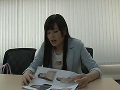 Innocent looking Asian girl blows cock of her shy boyfriend and fucks hard