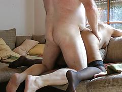 65 Granny first time anal Omas erster Arschfick