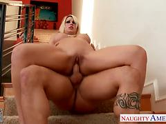 Golden Haired Goddess Jazy Berlin Fucked In Her Shaved Pussy